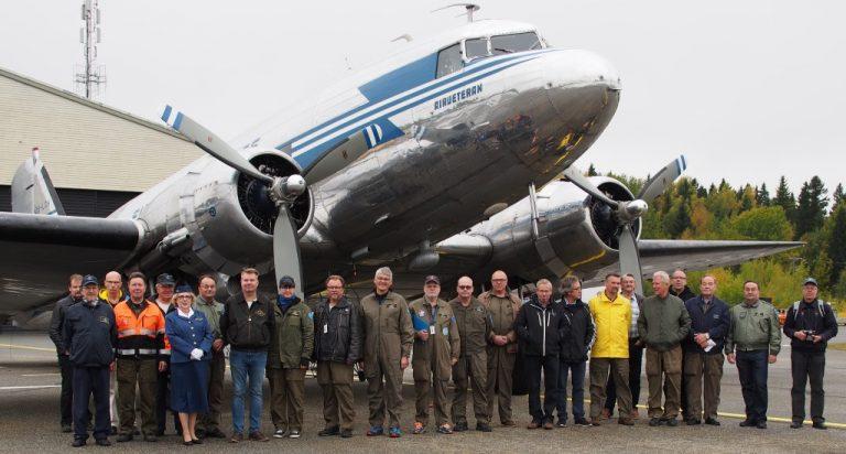 DC-3 Siirtyi talveksi Vaasaan lauantaina 29.09.2018